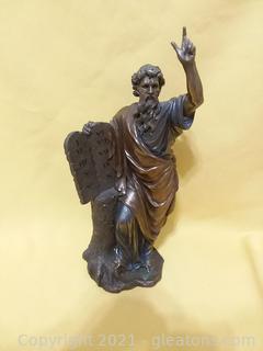 Prophet Moses Cold Cast Bronze Statue