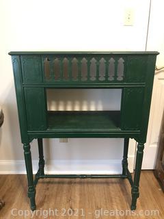 Emerald Green Antique Radio Cabinet