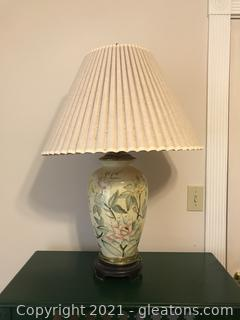 Toyo Lamp Company Hand Painted Pottery Table Lamp