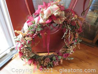 Lovely Large Door Wreath  Lovely Large Door Wreath