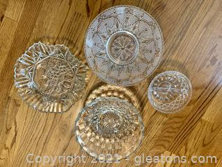 Decorative 4 piece Glass Bowls
