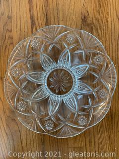 Brillant Heavy Cut Crystal Platter