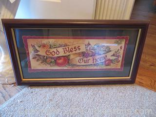 God Bless Our Home Framed Picture