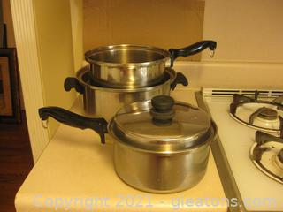 4 Pieces of Stainless Steel Cookware