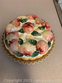 "Ceramic Covered Pie Plate ""Apple"""