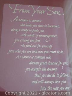 """""""From Your Son"""" Poem to Mother"""