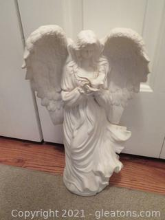 Resin Angel Holding Dove
