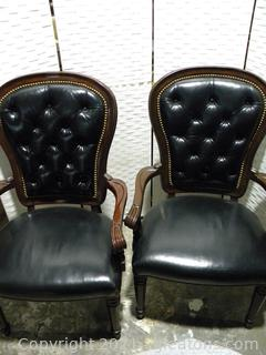 Henredon Pair of Executive Dining Arm Chairs