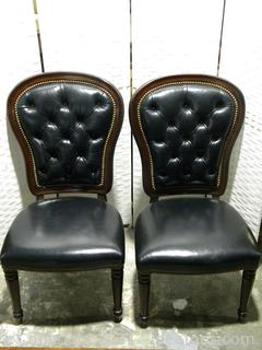 Henredon Pair of Executive Dining Side Chairs A