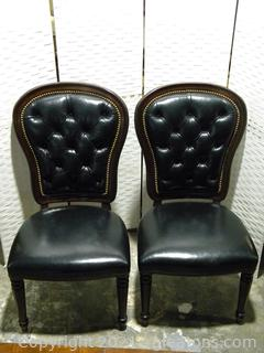 Henredon Pair of Executive Dining Side Chairs B