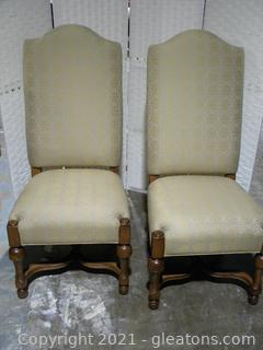 Drexel Heritage Pair of Country French Dining Chairs A