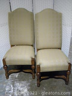Drexel Heritage Pair of Country French Dining Chairs B