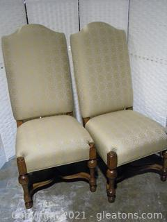 Drexel Heritage Pair of Country French Dining Chairs C