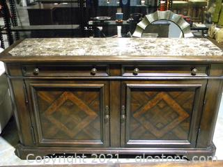 Thomasville Marble Topped Sideboard
