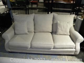 Linen Three Seat Sofa A