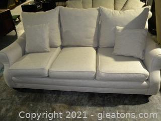 Linen Three Seat Sofa B