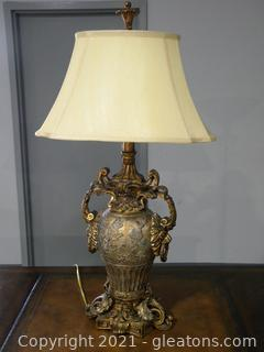 John Richard Ornate Gold Lamp with Handles