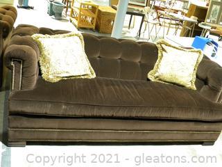 Drexel Heritage Brown Velvet Sofa B