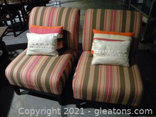 Pair of Mitchell Gold Accent Chairs