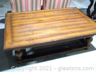 Arhaus Oversized Wooden Coffee Table