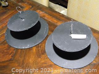 Thirstystone 2 Tiered Serving Trays