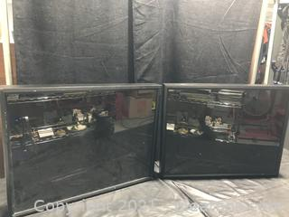 Two Large Display Framed