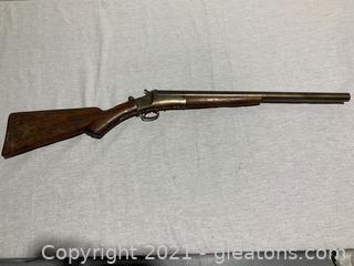 Antique Champion Break Open Single Barrel Shotgun