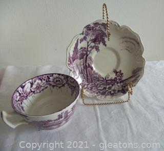 ENGLISH TEA CUP AND SAUCER