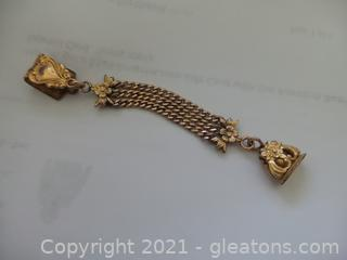 Antique gold filled watch fob