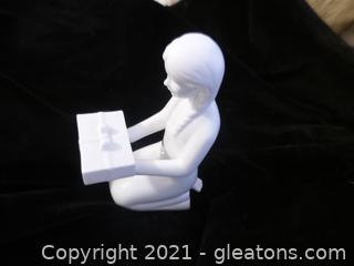 porcelain white figurine gift of love