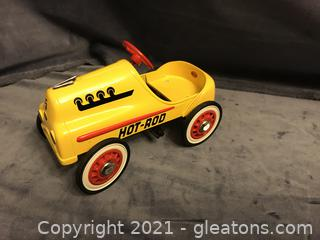Hallmark Classic Kiddy Car yellow Hot Rod