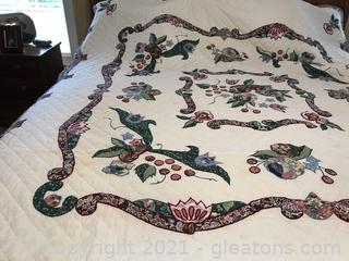 Queen size quilt cover spread