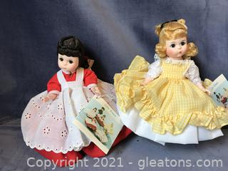 Two Madame Alexander little Women Dolls Amy and Jo