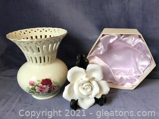 Godinger White Rose, formalities vase