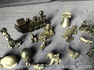 Miniature pewter lot