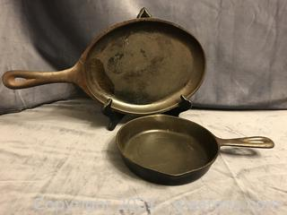"Small 6 1/2'"" skillet and steak plate"