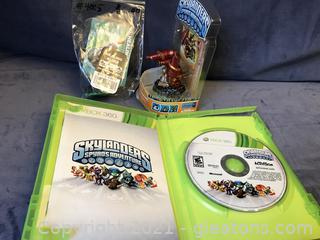 X Box 360 Skylanders and @ game pieces