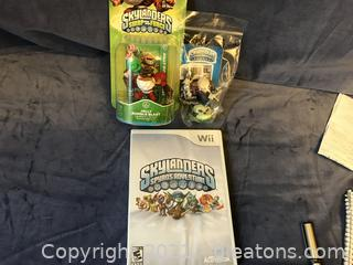Wii Skylanders and 2 game pieces