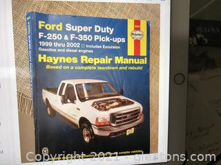 Haynes Repair manual for Ford Super Duty F250 -F350 Truck