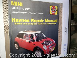 Haynes Repair Manual for Mini Cooper