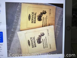 Marine engines two volume mercruiser Stern Drive manuals