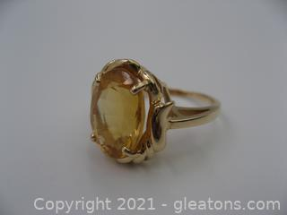 14kt Yellow Gold Citrine Ring