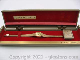 14kt Gold Ladies Hamilton Watch