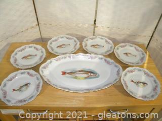 O. &E.G. Royal Austria Fish Set