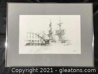 """Brig"""" Swan"""" At George Town By John Stobart # 300/350"""