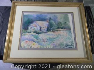 Cottage in a Field of Flowers