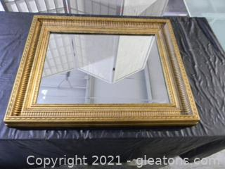 Mirror with Beautiful Detailed Guilded Frame