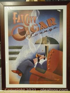Fat City Cigar Lounge Framed Print