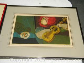 """Woman with Guitar"" Framed Print"