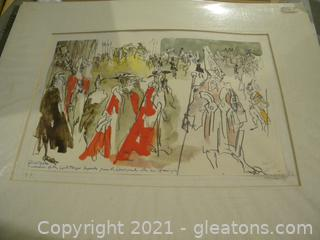 """The Law Courts "" Signed Print"